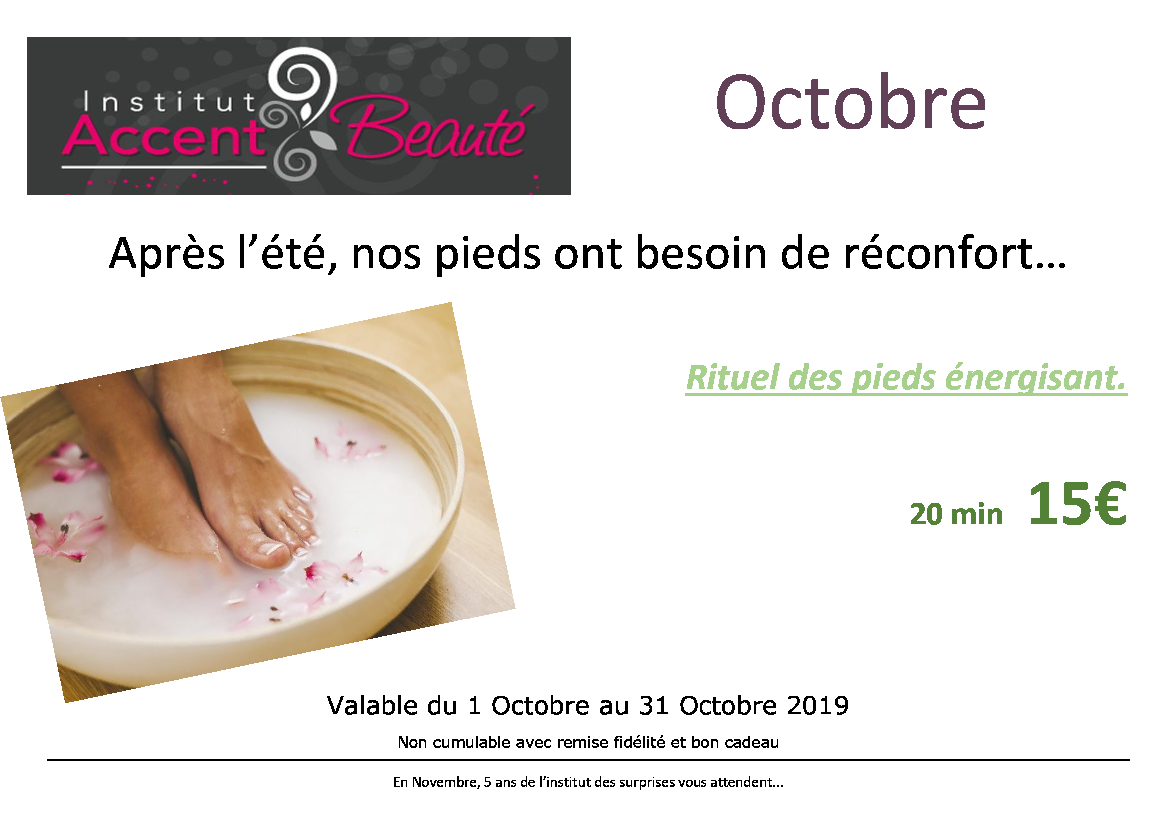 promo octobre 2019 accent beaute